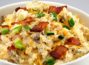 Bacon Cheese Mashed Potatoes